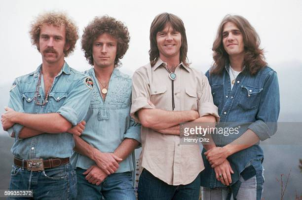 The founding members of The Eagles stand on the edge of Topanga Canyon The Eagles were the most popular band of the seventies and their reunion tour...
