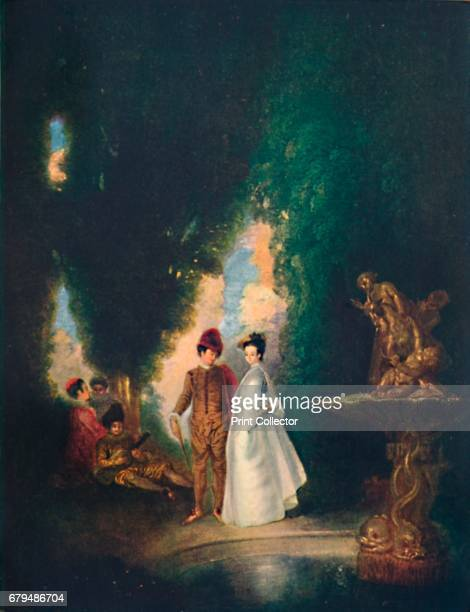 The Fountain' c18th century From The French Genius by Haldane Macfall [T C and E C Jack London and Edinburgh 1911] Artist JeanAntoine Watteau