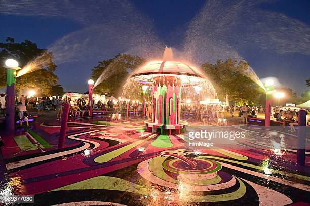 The Fountain is seen during Day 2 of the 2016 Bonnaroo Arts And Music Festival on June 10 2016 in Manchester Tennessee