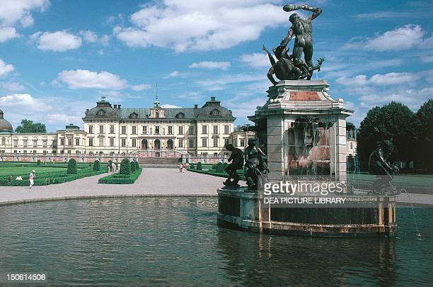 The fountain of Drottningholm Palace Sweden 17th century
