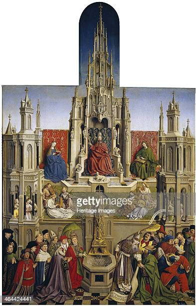 The Fountain of Grace and the Triumph of Ecclesia over the Synagogue, 1430. Found in the collection of the Museo del Prado, Madrid.