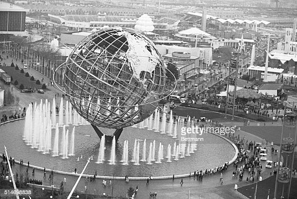 The Fountain of the Continents surrounds the symbol of the 1964 World's Fair the Unisphere in New York | Located in Flushing MeadowsCorona Park