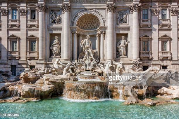 The Fountain of Trevi in Rome, horizontal framing