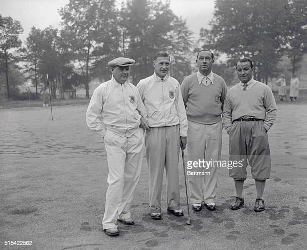The four American and British golf stars who have played one of the doubles matches in the first Ryder Cup play over the Ridgewood Country Club...