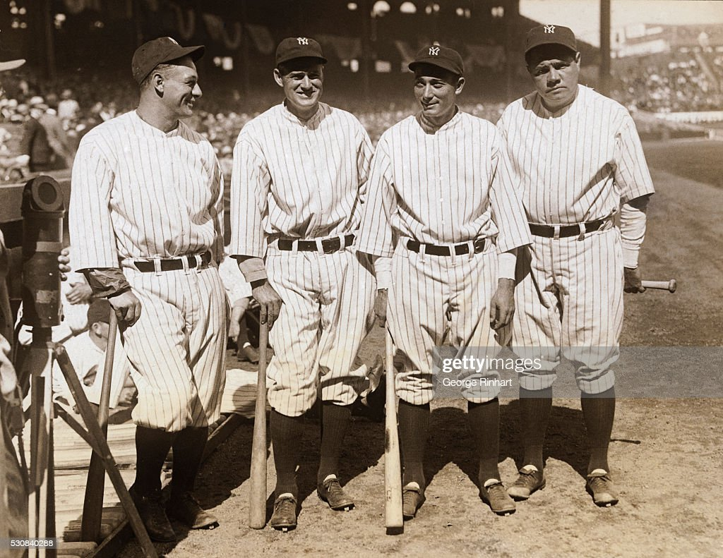 Babe Ruth with Teammates : News Photo