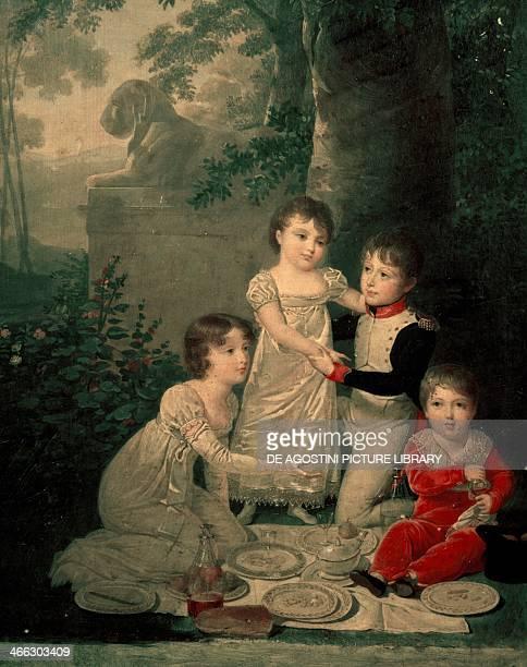 The four children of Joachim Murat and Caroline Bonaparte 18081809 painting by Jean Baptiste Isabey oil on panel