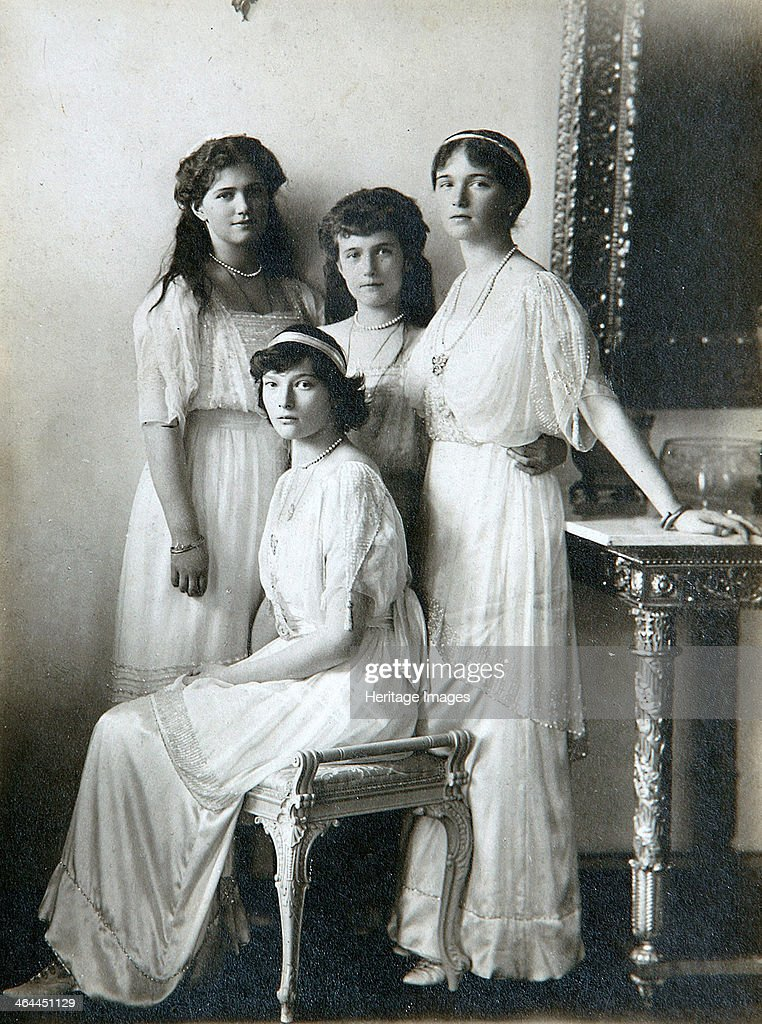 The four daughters of Tsar Nicholas II of Russia, 1910s. Artist: K von Hahn : News Photo