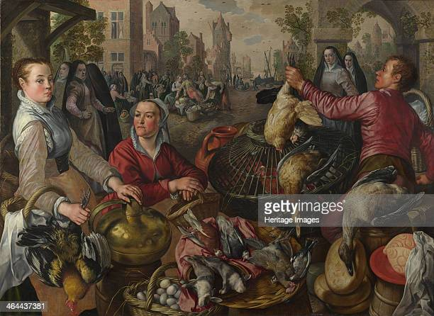 Air A Poultry Market with the Prodigal Son in the Background 1569 Found in the collection of the National Gallery London