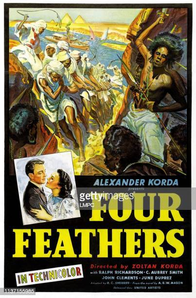 The Four Feathers poster John Clements June Duprez 1939