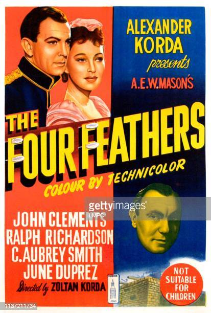 The Four Feathers poster John Clements June Duprez Ralph Richardson 1939