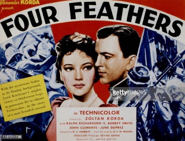 The Four Feathers poster June Duprez John Clements 1939