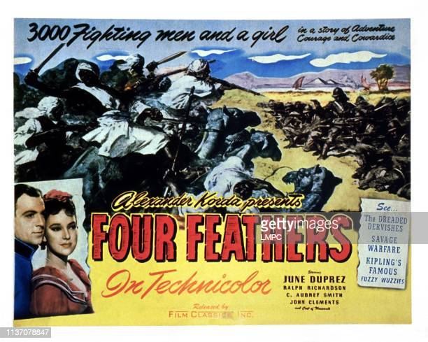 The Four Feathers poster US poster from left John Clements June Duprez 1939