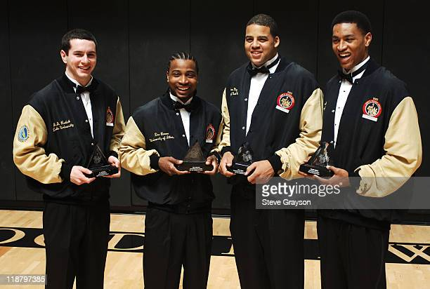 The four finalists in the 2005 John R Wooden award as the nation's best male college basketball player after award ceremonies JJ Redick of Duke Dee...