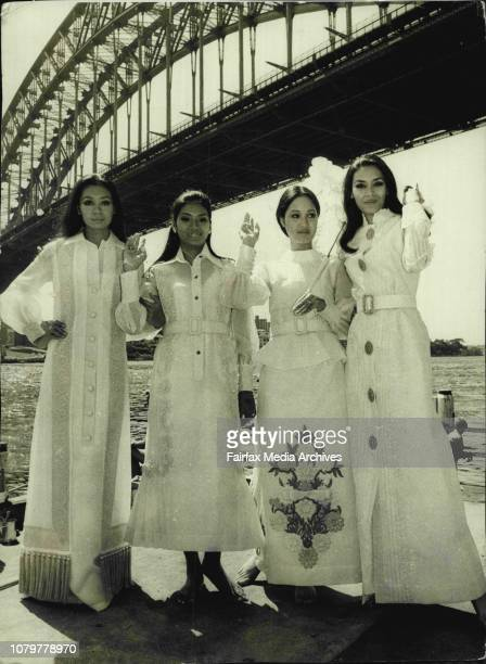 The four glamorous models currently in Sydney with Karilagan 71 to promote tourism in the Philippines went on a harbour cruise today The girls are...