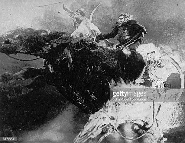 The four horsemen of the apocalypse from the film 'Faust' a silent classic directed by F W Murnau and based on the story by Goethe