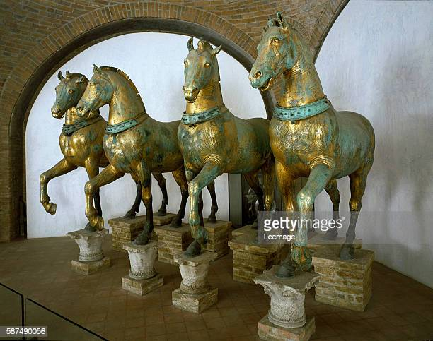 The Four Horses of San Marco removed from the exterior in 1979 Hellenistic 4th3rd century BCE Museo Marciano Basilica di San Marco Venise