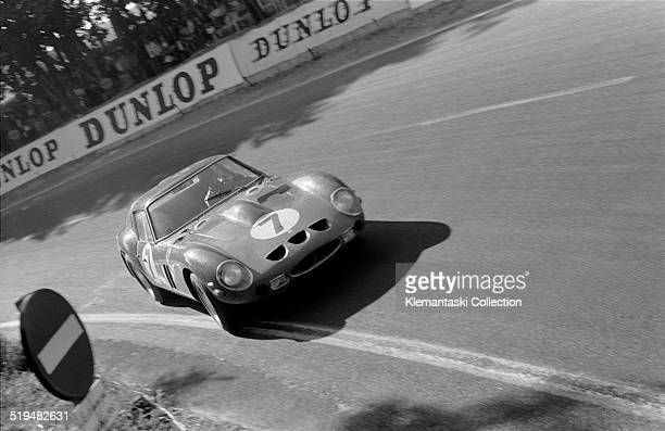 The four litre Ferrari GTO driven by Michael Parkes and Lorenzo Bandini 24 Hours of Le Mans Le Mans France June 1962 It retired due to overheating