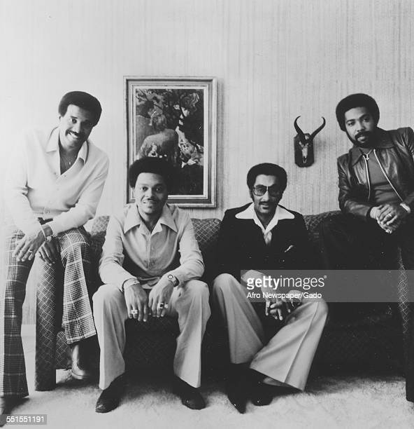 The four members of the Four Tops singing group 1975