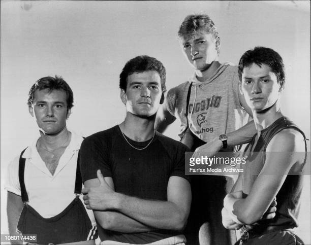 The four new dancers for the Sydney Dance Company from left Jonathan Rosten Ross Philip David Palmer and Alfred Williams February 8 1983