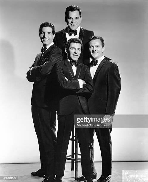 The Four Seasons Clockwise from the top Nick Massi Tommy DeVito Frankie Valli and Bob Gaudio pose for a portrait circa 1963 in New York city New York