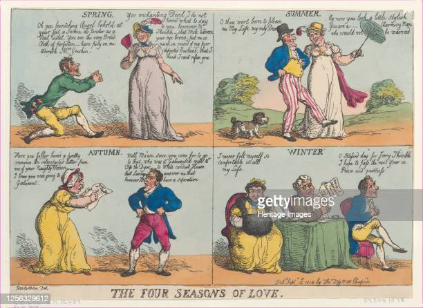 The Four Seasons of Love, September 15, 1814. Artist Thomas Rowlandson.