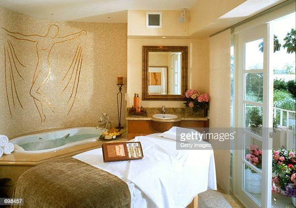 The Four Seasons Spas massage cabana room is seen in this undated photo taken in Beverly Hills CA The $3 million000 square foot spa is adjacent to...