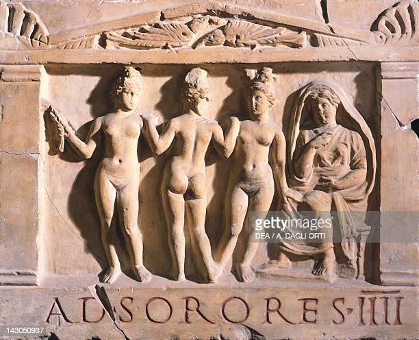 The Four Sisters Sign relief Roman Civilization 1st2nd Century Rome Museo Della Civiltà Romana