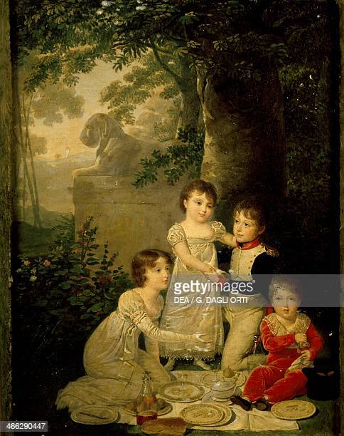 The four sons of Joachim Murat and Caroline Bonaparte 18081809 painting by Jean Baptiste Isabey oil on panel