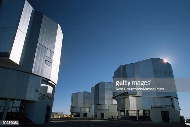 The four telescopes of the Very Large Telescope in the Atacama desert on October 26 in Paranal Chile The VLT Observatory comprises among others four...