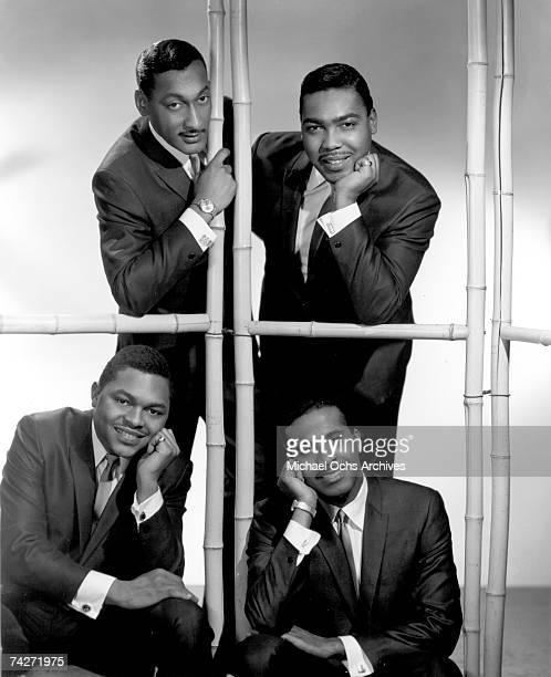 The Four Tops Bottom row LR Renaldo Obie Benson Levi Stubbs Top row LR Abdul Duke Fakir Lawrence Payton pose for a portrait circa 1964 in New York...