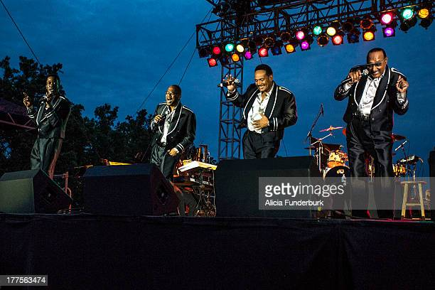 The Four Tops perform during the 2013 Biltmore Concert Series at the Biltmore on August 23 2013 in Asheville North Carolina