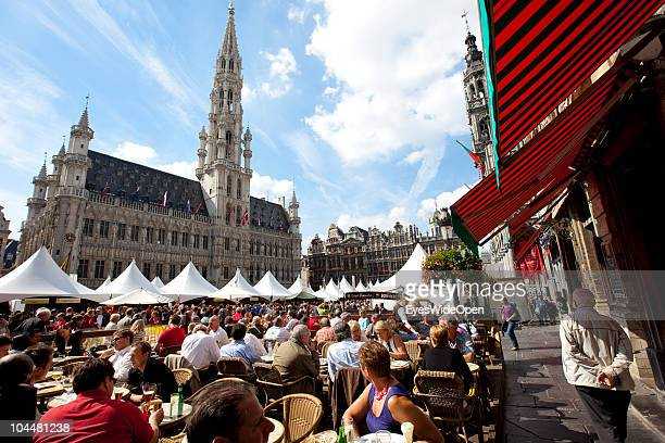 The fourth annual Alnwick Brussels Beer Festival took place at the Grand Place with the gothic styled town hall on September 10, 2010 in Brussels,...