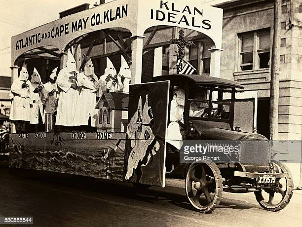 The Fourth of July demonstration of the Klan at Long Branch New Jersey where they have just acquired new headquarters Photo shows one of the Klan...