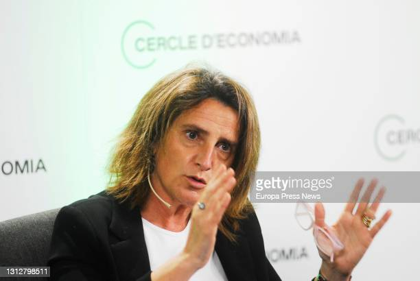 April 16: The fourth vice-president and minister for Ecological Transition of the Government, Teresa Ribera intervenes in the presentation of the...