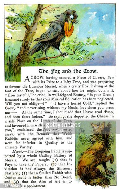 The Fox and the Crow fable originally by Aesop Aesop Greek writer c 620564 BCE