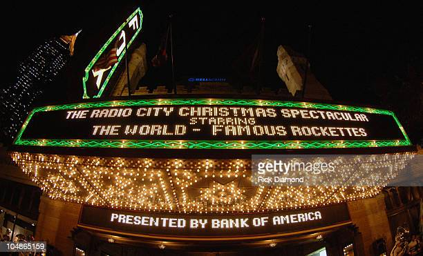The Fox Theater during Radio City Rockettes and US Marine Corp Grand Arrival at The Fox Theater in Atlanta Georgia United States