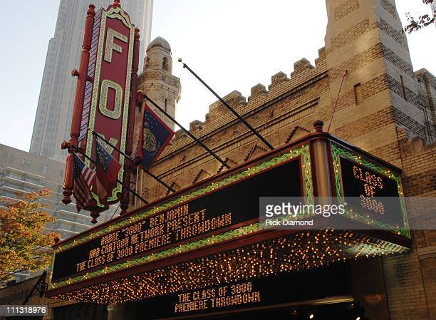 The Fox Theater Marquee 12591_RD_147JPG during Andre 3000 Benjamin And Cartoon Network Present Class of 3000 Premiere Event in Atlanta Georgia United...