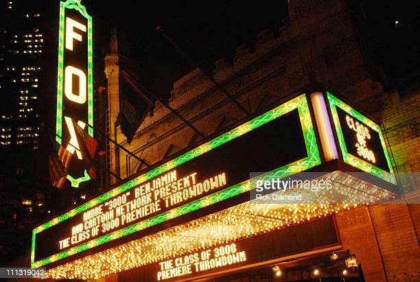 The Fox Theater Marquee 12591_RD_337JPG during Andre 3000 Benjamin And Cartoon Network Present Class of 3000 Premiere Event in Atlanta Georgia United...