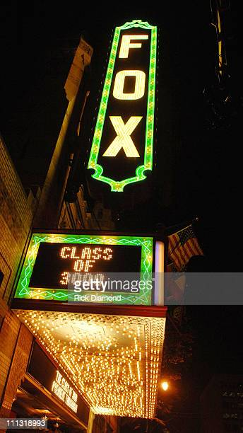 The Fox Theater Marquee 12591_RD_353JPG during Andre 3000 Benjamin And Cartoon Network Present Class of 3000 Premiere Event in Atlanta Georgia United...