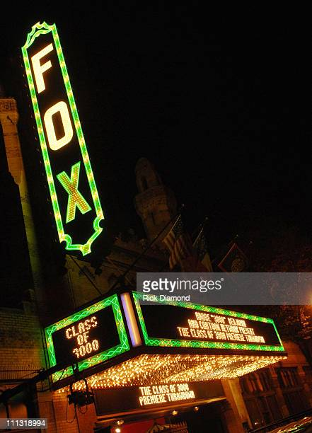 The Fox Theater Marquee 12591_RD_359JPG during Andre 3000 Benjamin And Cartoon Network Present Class of 3000 Premiere Event in Atlanta Georgia United...