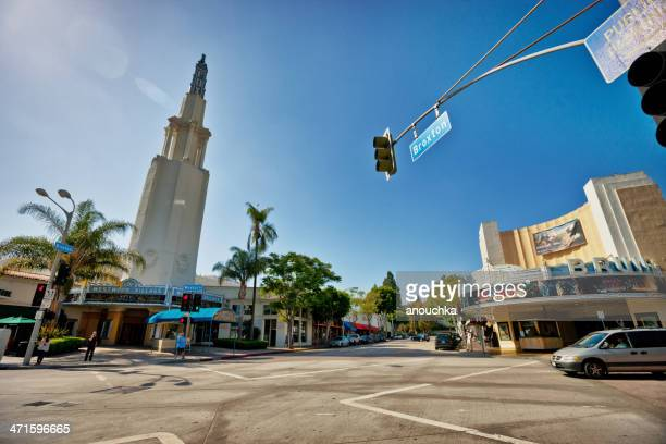 the fox theater, westwood village - westwood neighborhood los angeles stock pictures, royalty-free photos & images