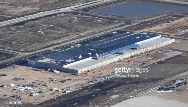 The Foxconn campus is shown under construction on January 6, 2020. A million-square-foot liquid crystal display factory, a 260,000-square-foot...