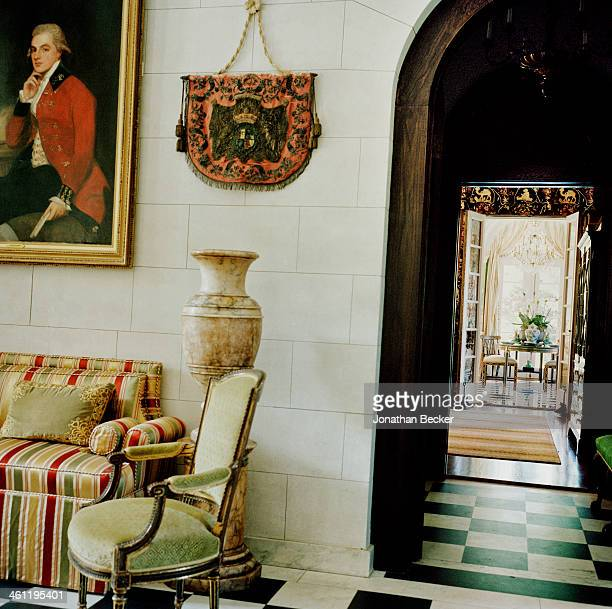 The foyer of Malvern House is photographed for Town Country Magazine on May 6 2012 in Louisville Kentucky PUBLISHED IMAGE