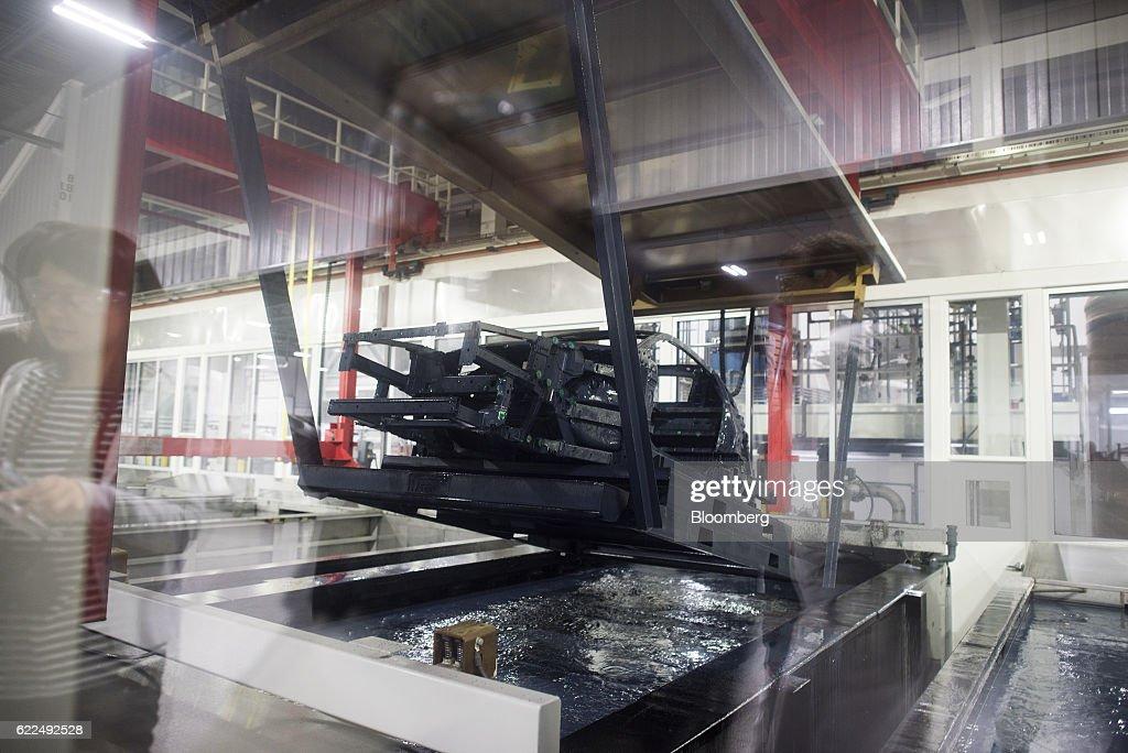 Operations Inside A Honda Motor Co. Manufacturing Facility : News Photo
