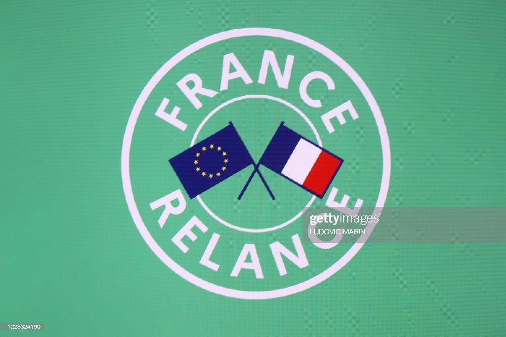 FRANCE-POLITICS-GOVERNMENT-ECONOMY-HEALTH-VIRUS-LOGO : News Photo