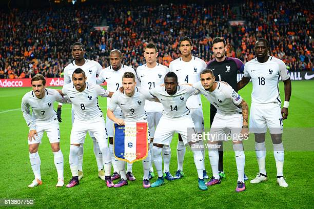The France team before the Fifa 2018 World Cup qualifying match between Netherlands and France on October 10 2016 in Amsterdam Netherlands