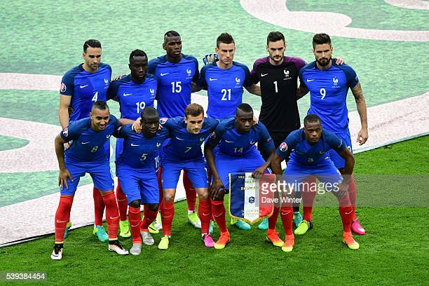 The France team before the GroupA preliminary round match between France and Romania at Stade de France on June 10 2016 in Paris France