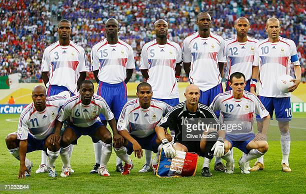 The France team line up for a group photo prior to the FIFA World Cup Germany 2006 Group G match between France and Korea Republic played at the...