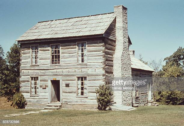 The Francis Berry House or Berry House in the Lincoln Homestead State Park in Springfield Kentucky circa 1960 Nancy Hanks and Thomas Lincoln the...