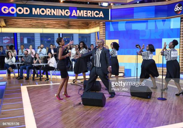 AMERICA The Francis Marion University YGB choir performs live on 'Good Morning America' Tuesday April 17 airing on the ABC Television Network ROBIN